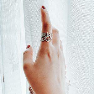 انگشتر نقره عشق کد2