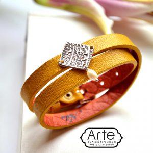 دستبند چرمی ست زنانه و مردانه