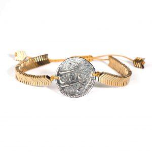 دستبند زنانه سکه صفوی طرح ۱
