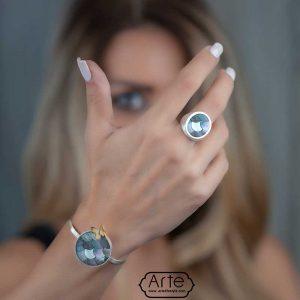 """دستبند نقره زنانه """"پروانه شو"""""""