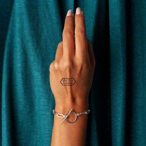 """دستبند نقره زنانه """"دریا"""""""